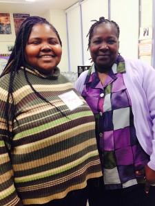Elsie (left) with her mom at Tobin